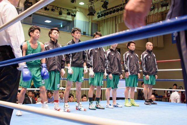 大69回関東大学ボクシングリーグ戦開会式(専修大学第一戦メンバー)